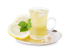 Cup of cold green tea Royalty Free Stock Photos