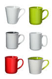 Cup collection on background Stock Images