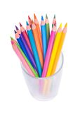 Cup with colorful Pencils Stock Image