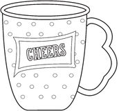Cup coloring page Royalty Free Stock Photography