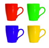 Cup colour set. Isolated on white background Royalty Free Stock Photo