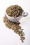 A Cup of Columbia Coffee Green Bean Royalty Free Stock Photo