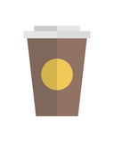 Cup Container Vector Flat Design Illustration Stock Photo
