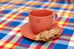 A cup with cookies Royalty Free Stock Photo