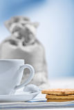 Cup and cookies Royalty Free Stock Images