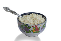 Cup cottage cheese Royalty Free Stock Images
