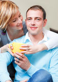 Cup couple Royalty Free Stock Photography