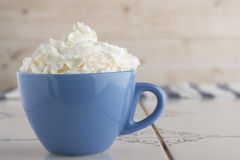 Cup with cream Stock Image