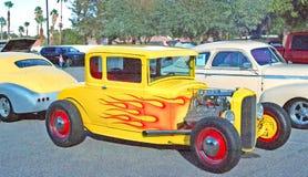 Cupê da janela do amarelo cinco Foto de Stock