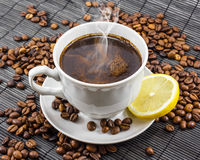Cup of Delicious Aromatic Coffee Stock Photos