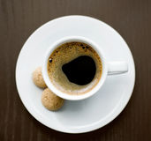 Cup of delicious coffee Stock Photography