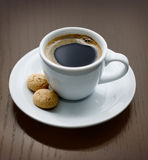 Cup of delicious coffee Stock Images
