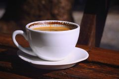 A cup of delicious coffee. Royalty Free Stock Image
