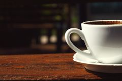A cup of delicious coffee. Stock Photos