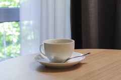 Cup of delicious espresso coffe Royalty Free Stock Images
