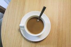 Cup of delicious espresso coffe Stock Image