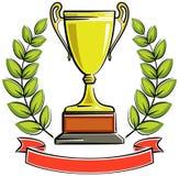 cup den guld- illustrationvektorn stock illustrationer