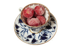 Cup der gefrorenen Erdbeere Lizenzfreie Stockbilder