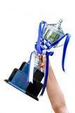 Cup in der Hand Lizenzfreies Stockfoto