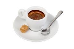 Cup des heißen Getränks mit Kaffee Lizenzfreie Stockbilder