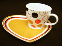 Cup on DEsigner Saucer Royalty Free Stock Photo