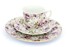 Cup with dishes Stock Photos