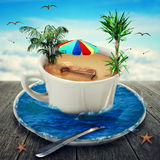 Cup of dreaming Royalty Free Stock Image