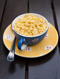 Cup dry morning meal Royalty Free Stock Photography