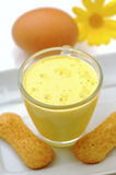 Cup of eggnog with cookies Stock Images