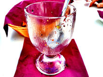 A cup of empty Sicilian granita at the bar Royalty Free Stock Images