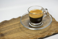 Cup of energising strong espresso coffee Stock Photos