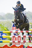 Cup Equestrian Show Jumping première Images stock
