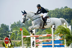 Cup Equestrian Show Jumping première Photographie stock