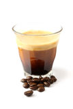 A cup of espresso royalty free stock photos