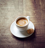 Cup of Espresso with Biscotti Royalty Free Stock Photo