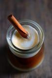 Cup of espresso and cinnamon stick Stock Photo