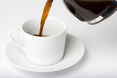 Cup of Espresso coffe Stock Photos