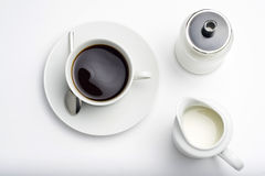 Cup of Espresso coffe Royalty Free Stock Photos