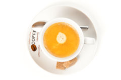Cup of espresso coffee Stock Images
