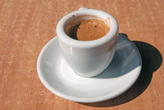 The cup of Espresso coffee Stock Images