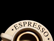Cup of espresso coffee royalty free stock photo