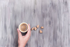 A cup of espresso coffee Stock Images