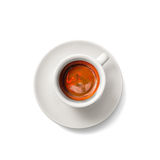 Cup of espresso coffee isolated on white plus clipping path Royalty Free Stock Photography