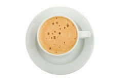 Cup of espresso coffee Stock Photos