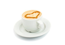 Cup of espresso coffee Royalty Free Stock Images