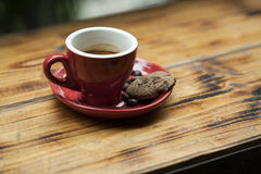 A cup of espresso and cookie Royalty Free Stock Images