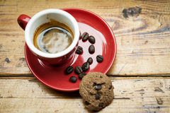 A cup of espresso and cookie Royalty Free Stock Photos