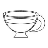 Cup espresso hot beverage thin line Royalty Free Stock Image