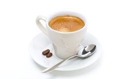 Cup of espresso, isolated Royalty Free Stock Photo