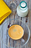 Cup of espresso and milk Royalty Free Stock Photography